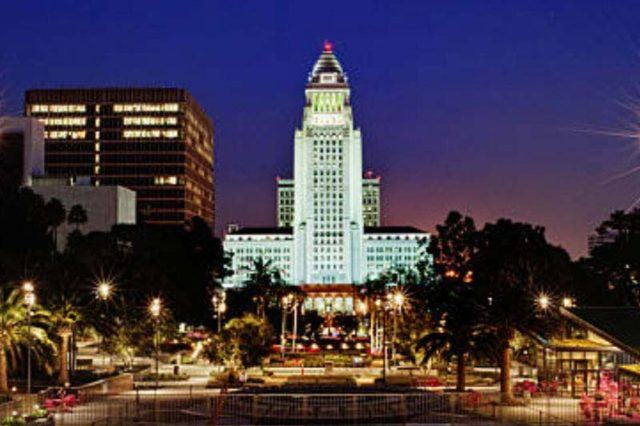 Los Angeles City Hall at night
